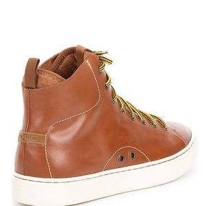 POLO RALPH LAUREN DELEANY HI TOP LEATHER SNEAKERS